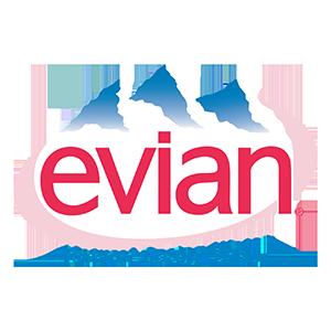 Logo of Evian