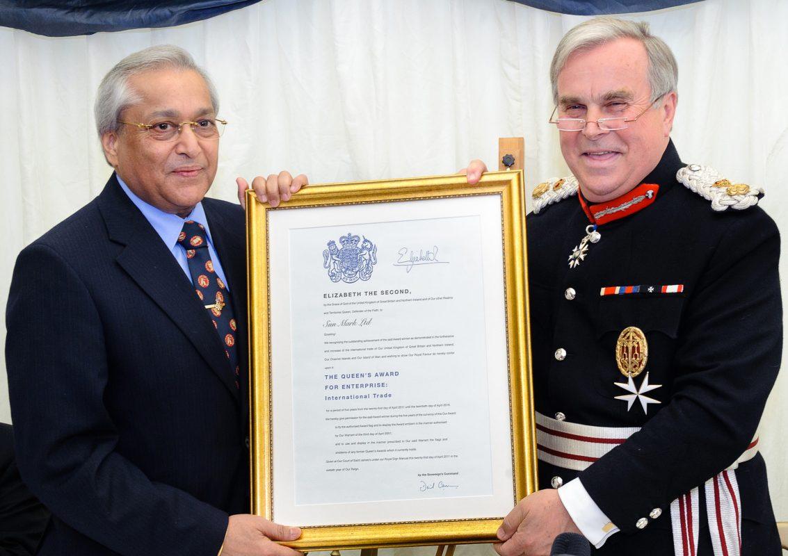 Third Queens Award for Enterprise in International Trade - Sun Mark Ltd