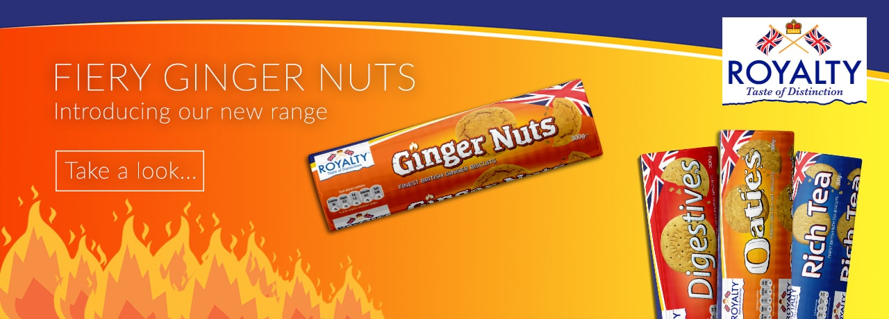 Royalty Ginger Nuts Biscuits Exporters UK
