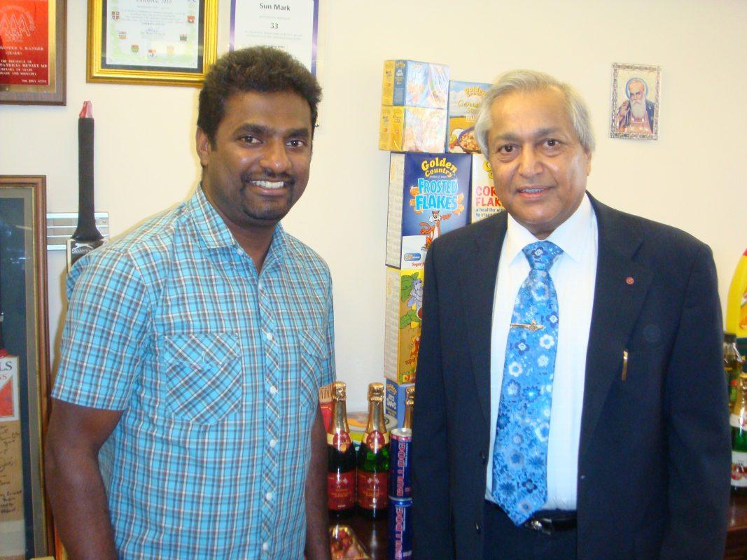 A World Class Partnership between Sun Mark Ltd & Cricket Legend, Muttiah Muralitharan