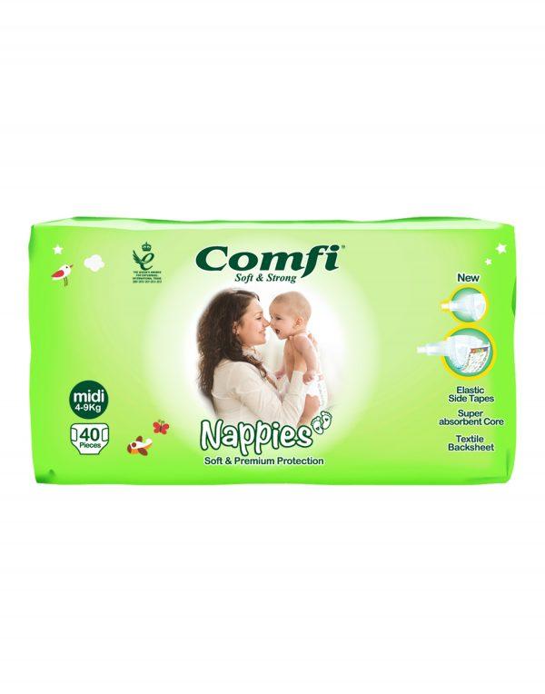 Comfi Nappies midi Wholesalers UK