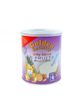 Golden Country Baby Cereal 5 Fruits Whet & Milk Wholesalers UK