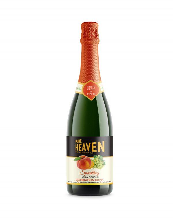 Pure Heaven Sparkling Non-Alcoholic Celebration Drink Peach Wholesalers UK