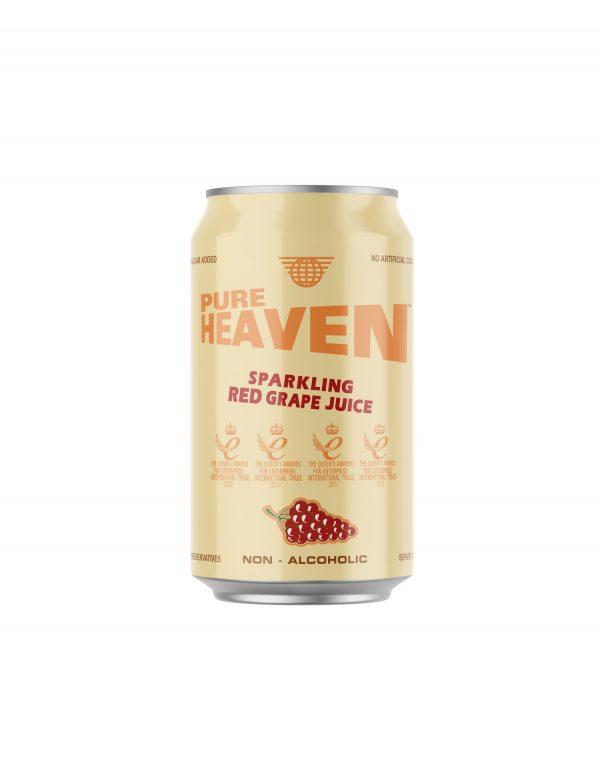 Pure Heaven Sparkling Red Grape Juice Non-Alcoholic Wholesalers UK
