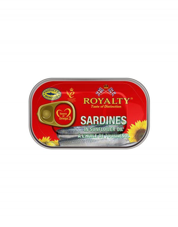 Royalty Sardines in Sunflower Oil Wholesalers UK