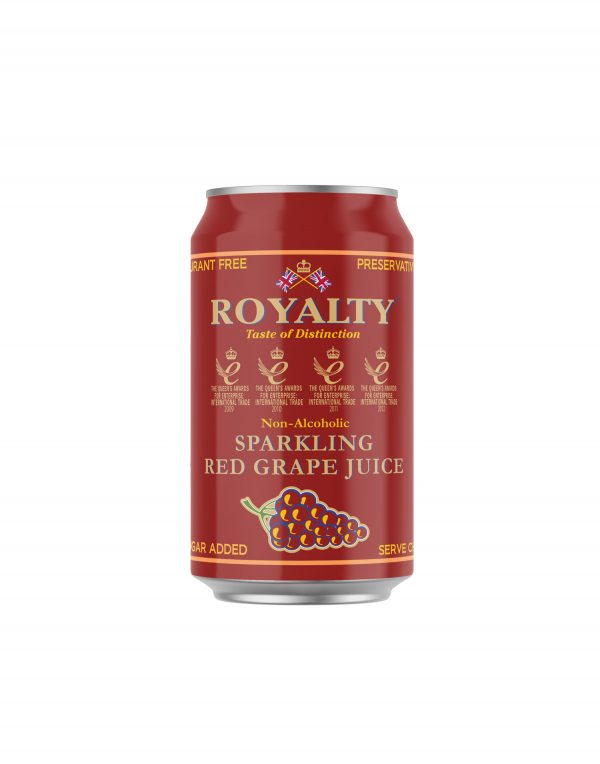 Royalty Non-Alcoholic Sparkling Red Grape Juice Wholesalers UK