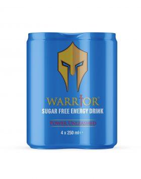Warrior Energy Drink Sugar Free 4 Pack Wholesalers UK