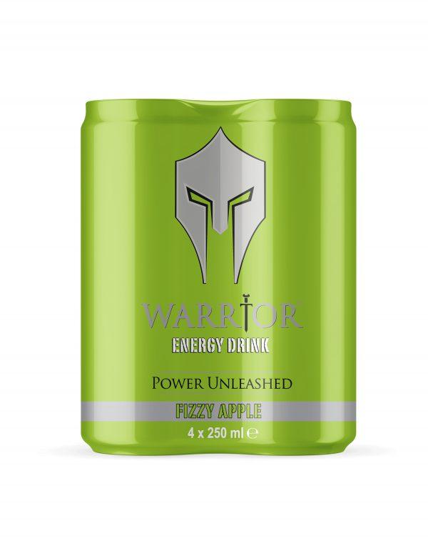 Warrior Energy Drink Fizzy Apple 4 Pack Wholesalers UK