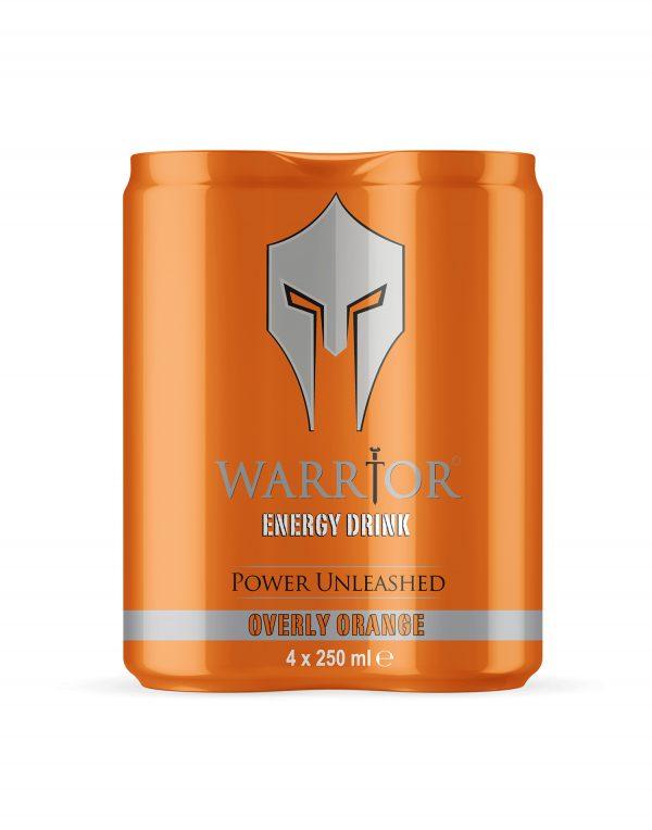 Warrior Energy Drink Overly Orange 4 Pack Wholesalers UK