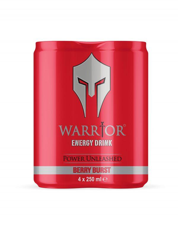 Warrior Energy Drink Berry Burst 4 Pack Wholesalers UK