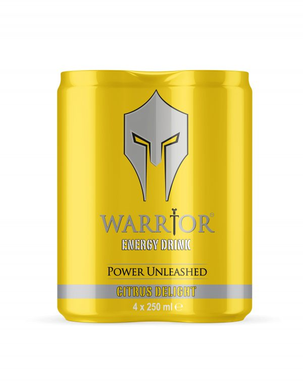 Warrior Energy Drink Citrus Delight 4 Pack Wholesalers UK